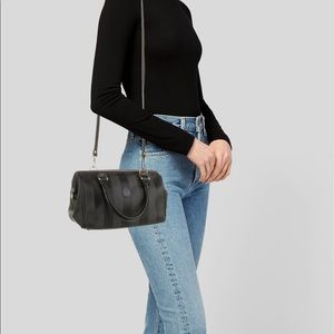 Fendi Vintage Pequin Mini Boston Bag